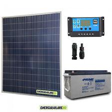 Kit placa solar 200W 12V Batería 150Ah agm Regulador de carga PWM 20A NV20