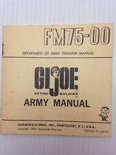 Vintage 1964 GI Joe Army Manual FM75-00 Department of Army Training