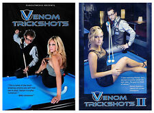 Venom Trickshots Volume 1 and 2! Brand New Pool (Billiards) DVDs Free Shipping