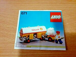 LEGO 671 CLASSIC SHELL TANKER SET IN AN OPENED DAMAGED BOX WITH INSTRUCTIONS