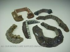 Wargames scenery. 6 piece Earthworks/Emplacements set 1/56 for 28mm (E)847