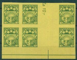 Latvia Archive Proof Mi.174x descriptive partial Mega-Gutter Wz.NV 1932