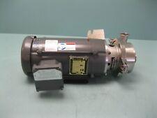 """1-1/2"""" Waukesha Cherry Burrell 2045 Centrifugal Pump 2 HP Motor C5 (2672)"""