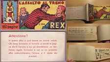 """Albo serie INVINCIBILI - """"L'assalto al treno"""" con REX - A.II° n.5 Marzo 1956"""
