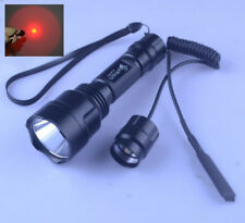 UltraFire C8 Cree Red Light LED 1 Mode Hunting Flashlight Torch With RAT TAIL