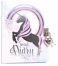 A6 Lined Unicorn Secret Diary With Lock For Children