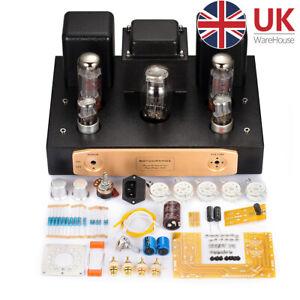 HiFi EL34 Valve Tube Amplifier Single-ended Class A Stereo Audio Amp DIY Kit 24W