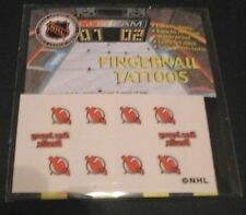 New Jersey Devils Temporary Nail Tattoos Decals Stickers (New in Package)