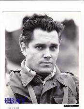Jeffrey Hunter rugged soldier VINTAGE Photo