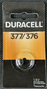 Duracell 377/376 SR66 SR626W 1.5V Silver Oxide Button Cell New