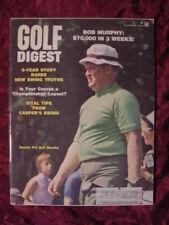 GOLF Digest magazine November 1968 Bob Murphy Babe Didrikson Carolyn Finley