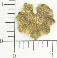 33013         2 Pc. Brass Oxidized Medium Water Lily Leaf Finding