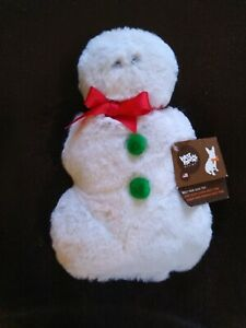 """West Paw Christmas Dog Toy Super Soft Snowman Made in the USA 8 1/2"""" Tall"""