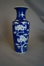 Tall Antique Chinese Export Kangxi Porcelain Prunus Vase 19/20th