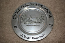1979 Charlie Gehringer Invitational Golf plate Oakland University Detroit Tigers
