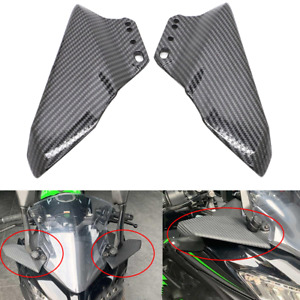 Carbon Fibre Color Aerodynamic Winglets Wing Kit For Kawasaki Ninja ZX-6R ZX-10R