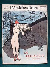 """L'Assiette au Beurre #224 """"La République"""" 1905 French Satire Art by Geoffroy"""
