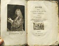 1809 COMINO RARA OPERA ANNALI DELLA TIPOGRAFIA VOLPI - COMINIANA DI PADOVA