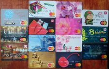 Set 14 various Debit Card MasterCard Russian bank - Russkiy Standart