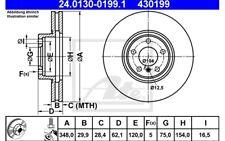 ATE Juego de 2 discos freno 348mm ventilado para BMW X5 X6 24.0130-0199.1