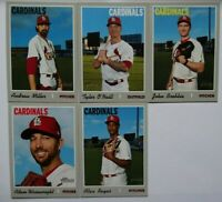 2019 Topps Heritage High Number Cardinals Base Team Set 5 Cards O'Neill