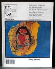Art Press 159 : Baselitz, J.Shapiro, E.Saulnier, Andres Serrano, Stella...NM