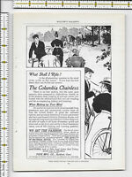 Columbia Chainless Bicycle Pope Mfg Co Hartford Conn 1898 magazine print ad