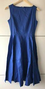 Heroecol Vintage 1950s 50s Dress Audrey Hepburn Style Retro Cocktail / Blue XS