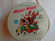 Vtg 1963 Traveling With Mickey Mouse And Friends Disney Luggage Small Tote Rare