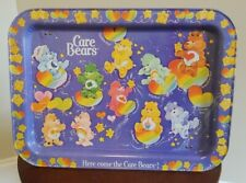 VINTAGE CARE BEARS METAL BREAKFAST TV TRAY 1980S RETRO COLLECTIBLE TOYS KIDS