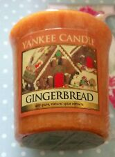 YANKEE CANDLE FESTIVE CHRISTMAS GINGERBREAD VOTIVE /SAMPLER VHTF RARE