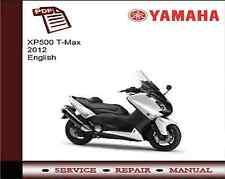 YAMAHA XP500 T-MAX 2012 Service workshop repair manual