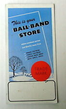 Vintage Ink Blotter This Is Your Ball Band Store Footwear Shoes Socks #44d