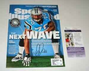Carolina Panthers Trai Turner Sports Illustrated Regional Issue SIGNED JSA CERT