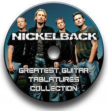 NICKLEBACK HEAVY METAL ROCK GUITAR TAB TABLATURE SONG BOOK SOFTWARE CD