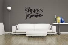 Huge Sale Sharks Rugby Team Logo Vinyl Sticker Wall Art / Man Cave