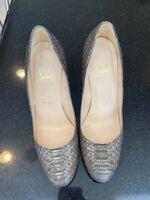 christian louboutin. Round Toe. Python Heel. Size 36.5. Gently Worn