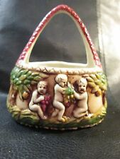 "Porcelain Basket Made in Germany ""Capo di Monti Simulated"""