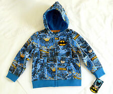 BRAND NEW BATMAN 2T Zipper Hooded Sweatshirt Hoodie Sweater RARE DC Comics Joker