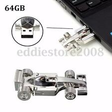 64GB Silver Racing Car Model USB Flash Drive Memory Stick Pen Thumb Toy Gift