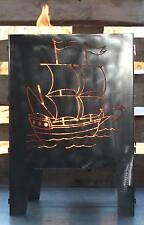 Feuerkorb Schiff 400 x 400 aus Edelstahl Serie Coybo Feuerschale Gartenfeuer