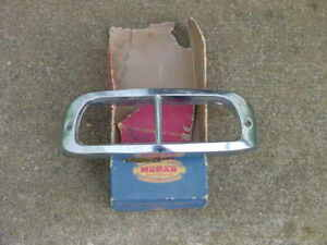 1953 Chrysler Windsor RH Park Lamp BEZEL NOS MoPar