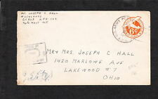 WWII APO 129 France Censor  Air 6c PSE Cover q3