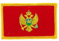 Patch Embroidered Patch Flag Montenegro Montenegrin Thermoadhesive