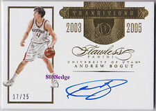 2015-16 FLAWLESS TRANSITIONS AUTO: ANDREW BOGUT #17/25 AUTOGRAPH UTAH/BOOMERS