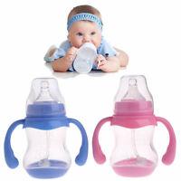180ML Wide Neck Baby Infant Milk Feeding Nipple Bottle Learn Drinking Anti-colic