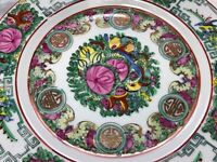 1 Porcelain Qing Dynasty Chinese Famille Verte Lotus Butterflies Gilt Plate