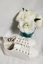 Roxy Women's Callie White Sneaker Shoe Mesh Cut Outs Size 6