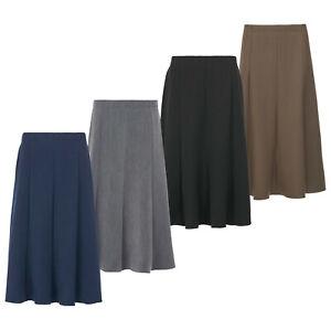 Ladies Long Maxi Skirt 31 Inch 8 Panels Half Elasticated Waist KK64