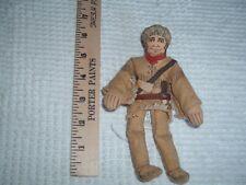 "Vtg 70s Hallmark 7"" Soft Fabric Davy Crocket Doll Famous Americans History Pb13"
